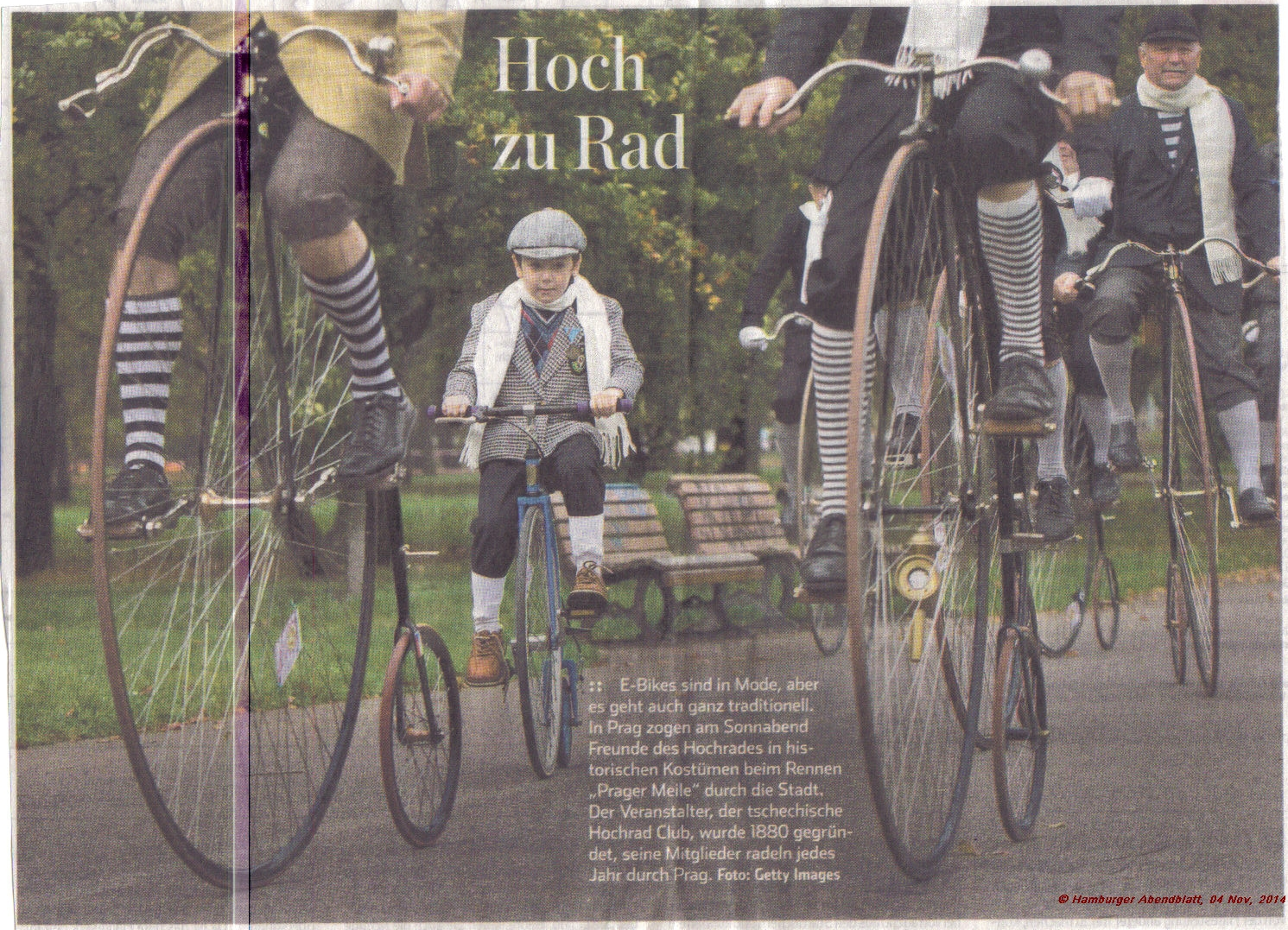 Mile of Prage ride 2014 (picture courtesy of Hamburger Abendblatt)