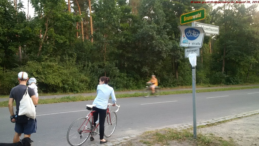 The designated bike streets in Berlin's Grunewald area are pretty popular, as exemplified by these three generations of bikers here.