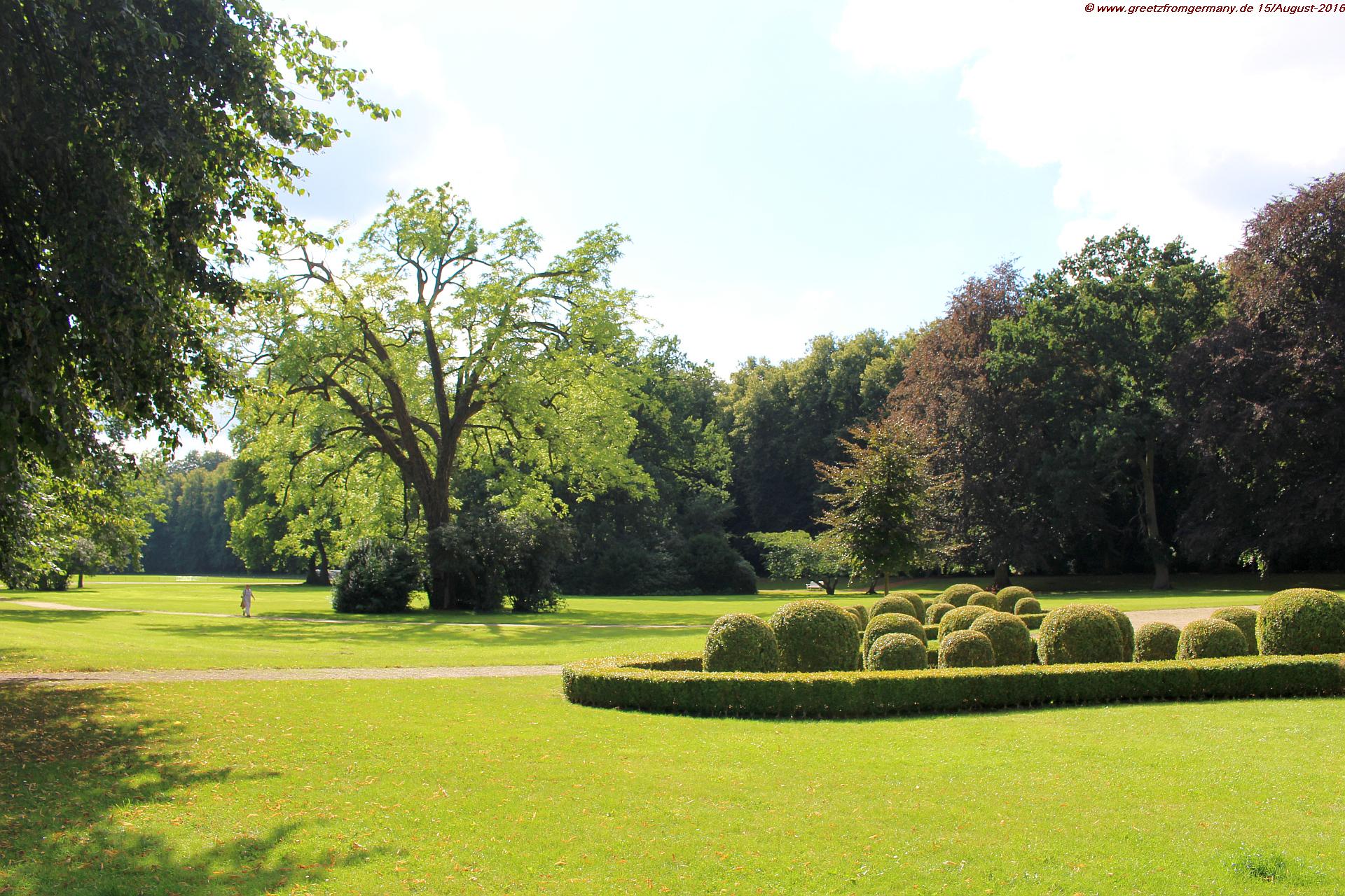 Garden park of Plön Castle